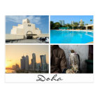 Collage of 4 photos in Doha postcard