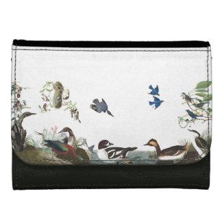 Collage of Audubon Birds Wildlife Loons Wallet
