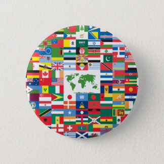Collage of Country Flags from All Over The World 6 Cm Round Badge