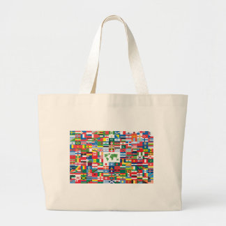Collage of Country Flags from All Over The World Canvas Bag