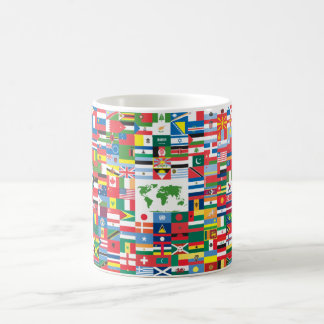 Collage of Country Flags from All Over The World Coffee Mug