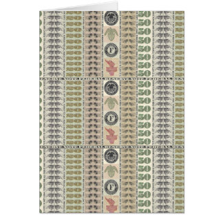 Collage of Currency Graphic Greeting Card