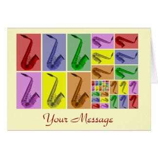 Collage of Fibonacci Saxophones Pattern Card