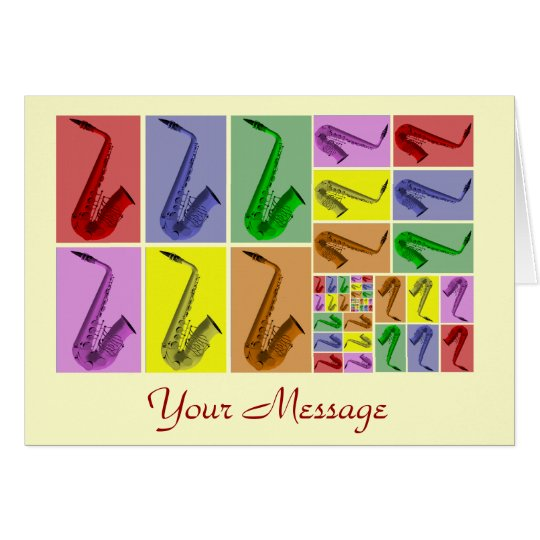 Collage of Fibonacci Saxophones Pattern Card