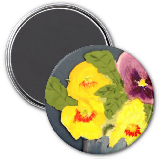 Collage of Mixed Pansies Magnet