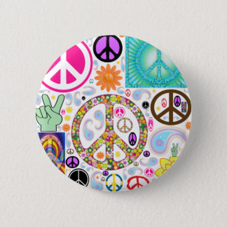 Collage of Peace 6 Cm Round Badge