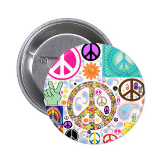 Collage of Peace 6 Cm Round Badge