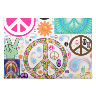 Collage of Peace Placemats