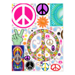 Collage of Peace Postcard