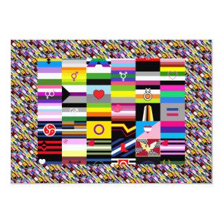 Collage of Pride Flags 13 Cm X 18 Cm Invitation Card