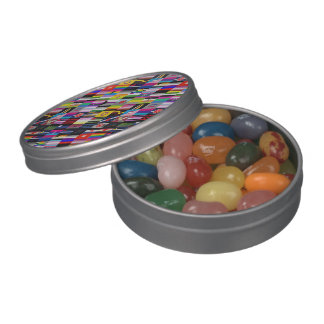 Collage of Pride Flags Jelly Belly Tins