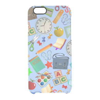 Collage of School Supplies iPhone 6 Plus Case