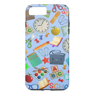 Collage of School Supplies iPhone 7 Plus Case