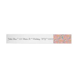 Collage of School Supplies on Pink Wraparound Address Label