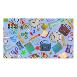 Collage of School Supplies Pack Of Standard Business Cards