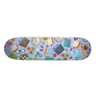 Collage of School Supplies Skateboard Decks