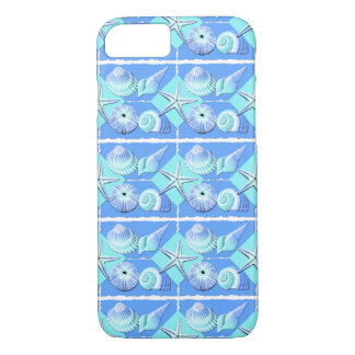Collage of Seashells  Shades of Blue iPhone 7 Case