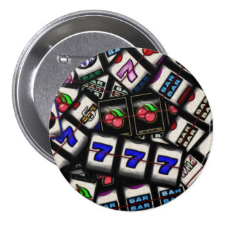 Collage of Slot Machine Reels 7.5 Cm Round Badge