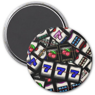 Collage of Slot Machine Reels 7.5 Cm Round Magnet