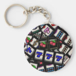 Collage of Slot Machine Reels Keychain