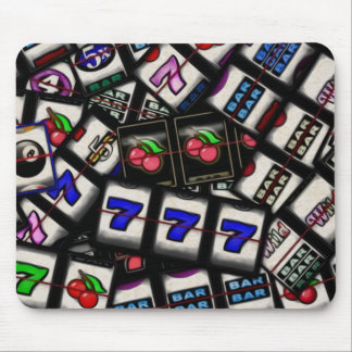 Collage of Slot Machine Reels Mouse Mat