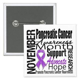Collage - Pancreatic Cancer Awareness Month 15 Cm Square Badge