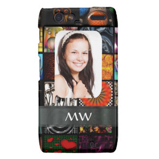 Collage pattern photo template motorola droid RAZR cover