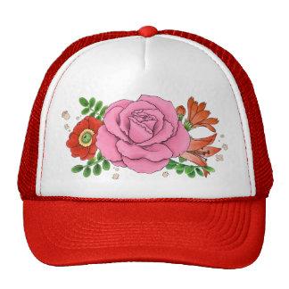 Collage trucker cap hat (red)