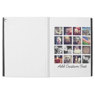 "collage with 16 square photos - white background iPad pro 12.9"" case"