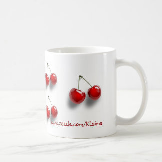 collage with cherries coffee mug