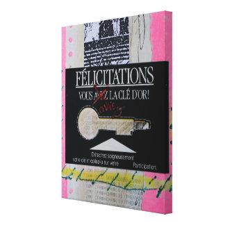 Collages Bruyants Artist's Book Congrats Key C Canvas Print