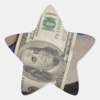 COLLAR AND CASH STAR STICKER