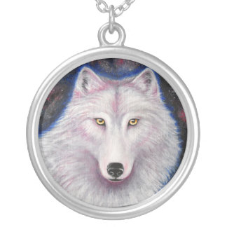 Collar She-wolf Silver Plated Necklace