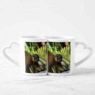 Collared Lemur Couples Mug