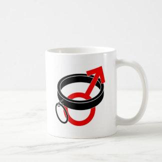 Collared male symbol. basic white mug
