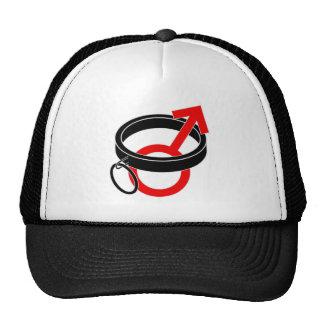 Collared male symbol. hats