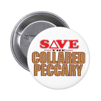Collared Peccary Save 6 Cm Round Badge