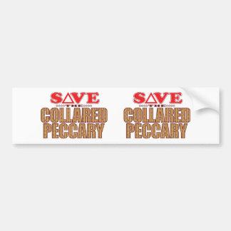 Collared Peccary Save Bumper Sticker