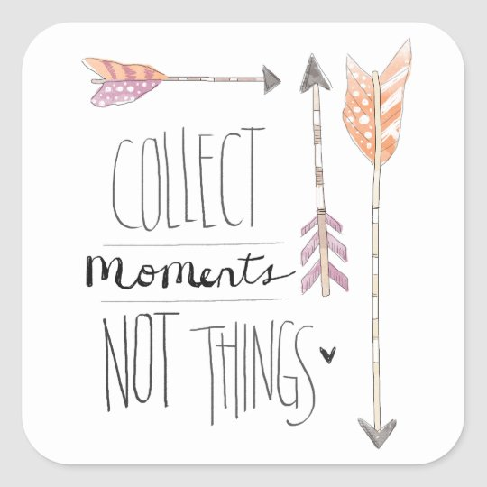 Collect Moments | Change your background colour Square Sticker