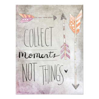 Collect Moments Not Things Photo Print