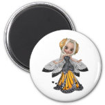 ♥ Collectable Fairy Flower Doll Art ♥ (pixie5) Refrigerator Magnets