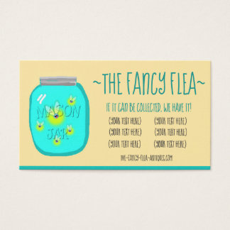 Collectables (bugs in a jar) business card