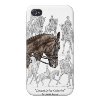 Collected Dressage Horses FEI iPhone 4 Cases