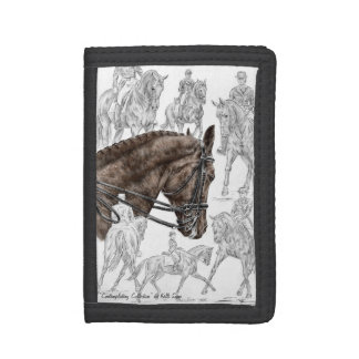Collected Dressage Horses FEI Trifold Wallets