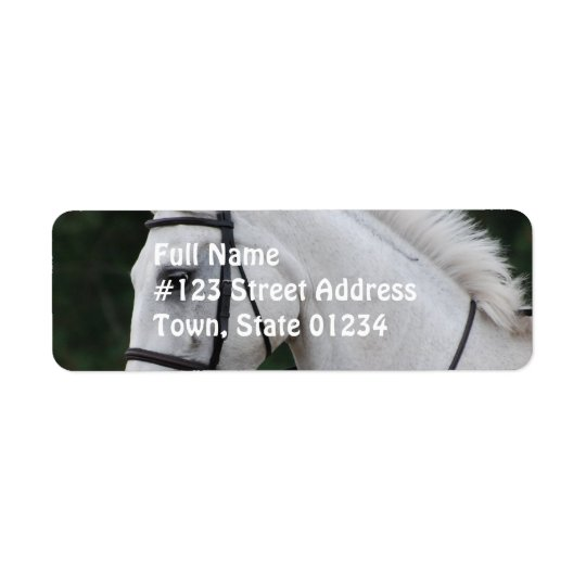 Collected White Horse Mailing Label Return Address Label