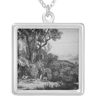 Collecting Coffee Silver Plated Necklace