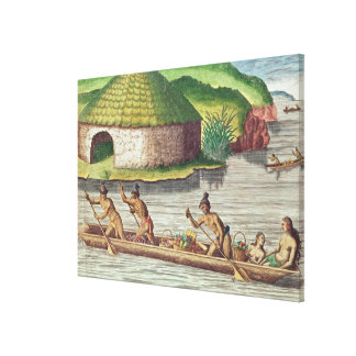 Collecting Crops for the Communal Storehouse Canvas Print