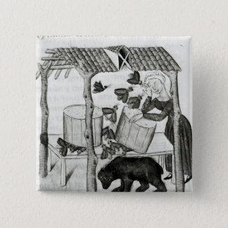 Collecting Honey 15 Cm Square Badge