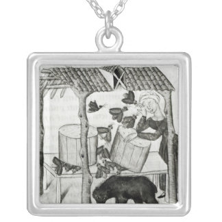 Collecting Honey Square Pendant Necklace
