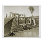 Collecting Water from the Nile, plate 6 from Volum Poster